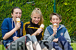 Front l-r Lauren Butler,Currow,Maria Daly,Currow and Adam Butler,Currow enjoying  the Hercoi Leán Island Warrior Challenge at An Riocht AC on Saturday