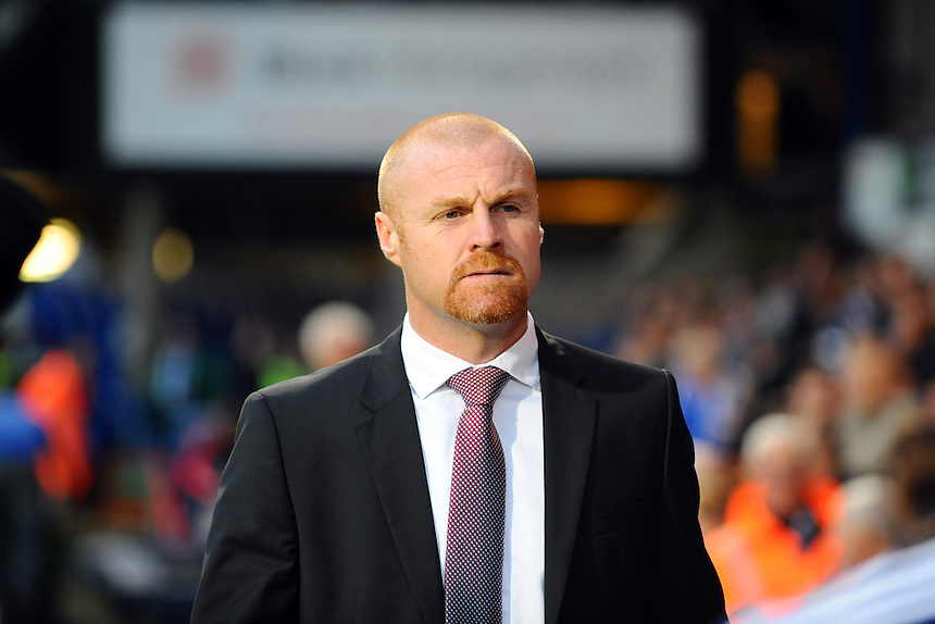 Burnley manager Sean Dyche <br /> <br /> Photographer Ashley Pickering/CameraSport<br /> <br /> Football - The Football League Sky Bet Championship - Ipswich Town v Burnley - Tuesday 18th August 2015 - Portman Road - Ipswich<br /> <br /> &copy; CameraSport - 43 Linden Ave. Countesthorpe. Leicester. England. LE8 5PG - Tel: +44 (0) 116 277 4147 - admin@camerasport.com - www.camerasport.com