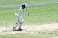 29th December 2019; Melbourne Cricket Ground, Melbourne, Victoria, Australia; International Test Cricket, Australia versus New Zealand, Test 2, Day 4; Tom Blundell of New Zealand plays a defensive shot - Editorial Use