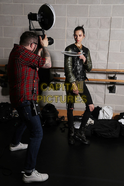 CHALAYAN<br /> at London Fashion Week FW 17 18<br /> in London, England  February 2017.<br /> CAP/GOL<br /> &copy;GOL/Capital Pictures
