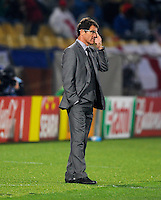 Fabio Capello manager of England. USA vs England in the 2010 FIFA World Cup at Royal Bafokeng Stadium in Rustenburg, South Africa on June 12, 2010.