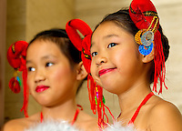 Dancers wait to perform during the Wells Fargo Community Celebration, held October 29, 2011 in downtown Charlotte NC. The daylong festival took place in the streets, in public atriums and in downtown museums, which offered free admission all day long. Wells Fargo, which this month completed its conversion from Wachovia, picked up the bill.