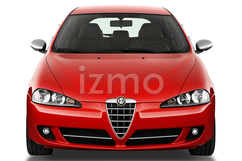 Straight front view of a 2000 - 2010 Alfa Romeo 147 5 Door Ducati Corse Hatchback.