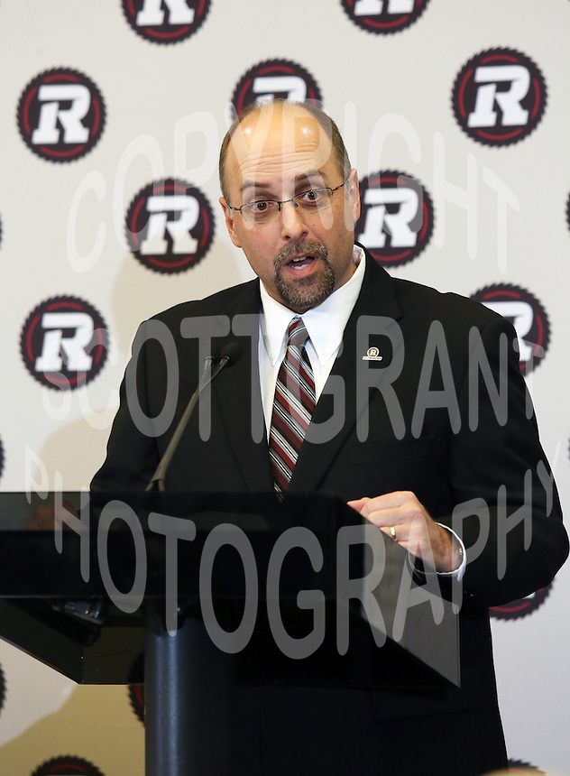 Marcel Desjardins GM Ottawa RedBlacks 2013. Photo Scott Grant