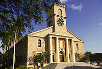 Kawaiahao Church, built of coral blocks, downtown Honolulu, scene of many weddings