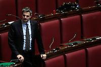 Simone Baldelli<br /> Roma 25-02-2014 Camera. Voto di fiducia al nuovo Governo.<br /> Senate. Trust vote for the new Government.<br /> Photo Samantha Zucchi Insidefoto