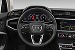 Car pictures of steering wheel view of a 2019 Audi Q3 Advanced 5 Door SUV Steering Wheel