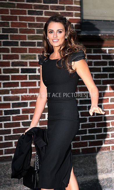WWW.ACEPIXS.COM . . . . .  ....November 17 2009, New York City....Actress Penelope Cruz made an appearance at 'The Late Show with David Letterman' on November 17 2009 in New York City....Please byline: NANCY RIVERA- ACE PICTURES.... *** ***..Ace Pictures, Inc:  ..tel: (212) 243 8787 or (646) 769 0430..e-mail: info@acepixs.com..web: http://www.acepixs.com