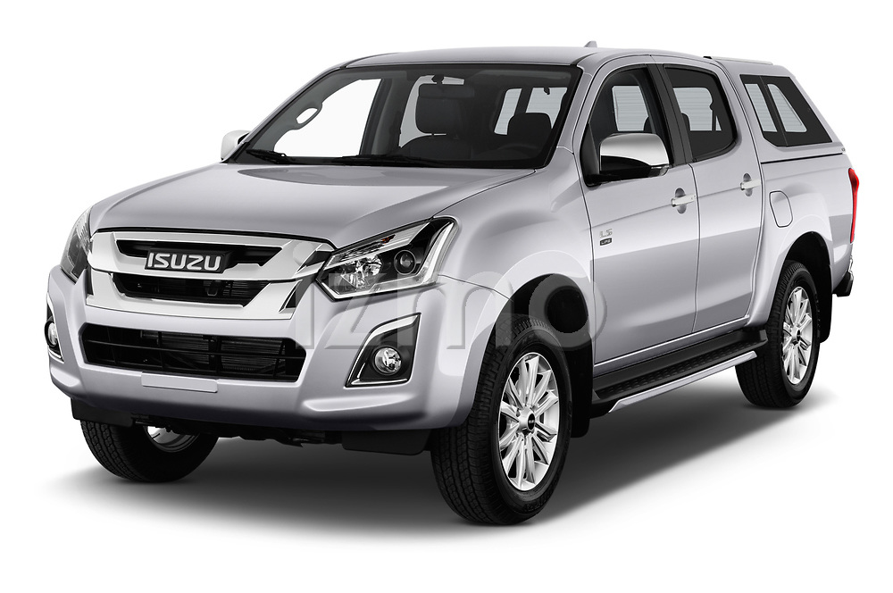 2019 Isuzu D-Max LSX 5 Door Pick-up Angular Front stock photos of front three quarter view