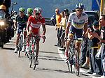 Alberto Contador (w), Joaquin Purito Rodriguez (r), Alejandro Valverde (g) and Nairo Alexander Quintana during the stage of La Vuelta 2012 between Gijon and Valgrande-Pajares (Cuitu Negru).September 3,2012. (ALTERPHOTOS/Paola Otero)