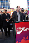 TODD STEADMAN. The City of West Hollywood unveils GuitarTown on the Sunset Strip in conjunction with the completion of the Sunset Strip Beautification Project.  West Hollywood, CA, USA. August 12, 2010. ©Tim Copeland/Celphimage.