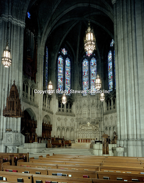 East Liberty PA:  Brady Stewart Jr photographed the interior and exterior of the church in 1976. The photographs were used to illustrate The Art and Architecture of the East Liberty Presbyterian Church - published in 1977. The church was completed in 1935 and was a gift from Mr and Mrs Richard Beatty Mellon, a grandson of the original donors of the property where the church had its first site.