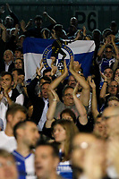 Bristol Rovers FC fans celebrate at the final whistle during the Carabao Cup match between Fulham and Bristol Rovers at Craven Cottage, London, England on 22 August 2017. Photo by Carlton Myrie.