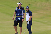 Andy Sullivan (ENG) and Sean Mcdonagh on the 18th hole during Saturday's Round 3 of the 2018 Dubai Duty Free Irish Open, held at Ballyliffin Golf Club, Ireland. 7th July 2018.<br /> Picture: Eoin Clarke | Golffile<br /> <br /> <br /> All photos usage must carry mandatory copyright credit (&copy; Golffile | Eoin Clarke)