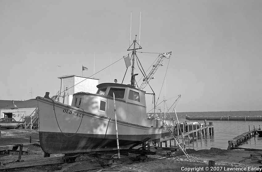 Ambrose Fulcher built the OLD SALT for Harman Hill, of Atlantic, in 1919. Originally named ALIENE, after Hill's daughter Aliene Hill, she is possibly the oldest fishing boat still in operation in Core Sound. The OLD SALT has had several owners over the years. In 1965 Charley Taylor, of Sealevel, purchased the vessel for use in his long-hauling operation. Taylor's stepson, Danny Mason, took over the boat in the 1990s and made extensive repairs. He renamed her OLD SALT after his uncle and still hauls with the boat.