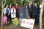 Kathy Synnott deputy principal Donore school, Frank Godfrey, Ruth Daly principal Donore School, Deputy German ambassador to ireland Peter Zingraf, Cllr Eoin Holmes and Superintendent Gerry Smith at the memorial for Bettina Poeschel at Donore. Photo: Colin Bell/pressphotos.ie