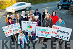 Jackie Moriarty, Eileen Courtney, Kasia Dumka and Jennifer O'Brien who are staff of Happy Valley Childcare, Castlemaine, held a protest outside the premises last Wednesday, Feb 5, along with parents and friends.