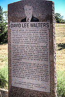 David Lee Walters Historic Marker Canute Oklahoma on Route 66.<br /> <br /> David Lee Walters, 24th Governor of Oklahoma and first Governor from Western Oklahoma, was born in Canute on Nov. 20. 1951. Raised on a nearby farm. He attended schools in Canute and graduated from Canute High School as Valedictorian in 1969. He earned degrees in Engineering and Business at the University of Oklahoma and Harvard University. <br /> <br /> From 1977 throught 1982 Walters held management positions at OU and the OU Health Sciences Center. He later served as President of two Real-estate Companies in Oklahoma City. Continuing his public service as Chair of the Oklahoma Human Services Commission and Co-chair of Governor George Nigh's Commission on the reform of State Government. <br /> <br /> Following as unsuccessful bid for the Office in 1986. He was elected Governor in 1990 carrying 75 of Oklahoma's 77 counties. During his term he increased public education funding 30 percent, reformed workers compensation laws, won passage of $350 million bond issue for higher Education and produced a 10-year record in creating new jobs for Oklahomans. All with no tax increase. <br /> <br /> Oklahoma Historical Society Oklahoma Department of Transportation 217- 1994
