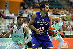 Basketball Champions League 2017/18 - Previus.<br /> Divina Seguros Joventut vs Dinamo Tbilisi: 86-66.<br /> Sergi Vidal vs Nikola Gacesa.