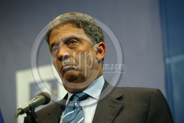 Belgium---Brussels---Council---council of general affairs ,      24.02.2003.Amr MOUSSA , General Secretary of the arab League ;            .Portrait ; .PHOTO: EUP-IMAGES.COM / ANNA-MARIA ROMANELLI