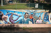 """Forebearers of Civil Rights"" Los Angeles, CA, LA River, San Fernando Valley, Tujunga Wash, Valley, l Mural, los angeles, sub watershed"