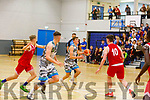 Stephen Bowler of Garveys in action against UCC in the U20 Basketball league in the Tralee Sports Complex on Sunday