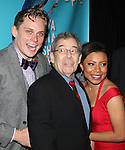 Billy Magnussen, director Nicholas Martin, and Shalita Grant attending the Broadway Opening Night Performance after party for  'Vanya and Sonia and Masha and Spike' at the Gotham Hall in New York City on 3/14/2013.