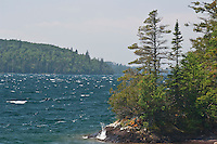 Waves on Lake Superior at Isle Royale National Park.