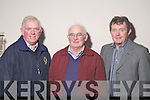 Delegates at the County Board Meeting on Monday night, from left: Johnny Brosnan (Currow), Willie Goggin (St. Michael's Foilmore) and Patrick Brennan (South Kerry delegate).