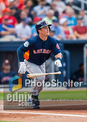 28 February 2017: Houston Astros infielder Alex Bregman in action during the Spring Training inaugural game against the Washington Nationals at the Ballpark of the Palm Beaches in West Palm Beach, Florida. The Nationals defeated the Astros 4-3 in Grapefruit League play. Mandatory Credit: Ed Wolfstein Photo *** RAW (NEF) Image File Available ***