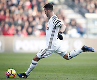 Calcio, Serie A: Sassuolo vs Juventus. Reggio Emilia, Mapei Stadium, 29 gennaio 2017. <br /> Juventus' Miralem Pjanic kicks a free kick during the Italian Serie A football match between Sassuolo and Juventus at Reggio Emilia's Mapei stadium, 29 January 2017<br /> UPDATE IMAGES PRESS/Isabella Bonotto