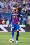 FC Barcelona's defender Gerard Pique during Copa del Rey (King's Cup) Final between Deportivo Alaves and FC Barcelona at Vicente Calderon Stadium in Madrid, May 27, 2017. Spain.<br /> (ALTERPHOTOS/BorjaB.Hojas)