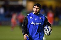 Lucas Noguera Paz of Bath Rugby looks on during the pre-match warm-up. European Rugby Champions Cup match, between Bath Rugby and RC Toulon on December 16, 2017 at the Recreation Ground in Bath, England. Photo by: Patrick Khachfe / Onside Images