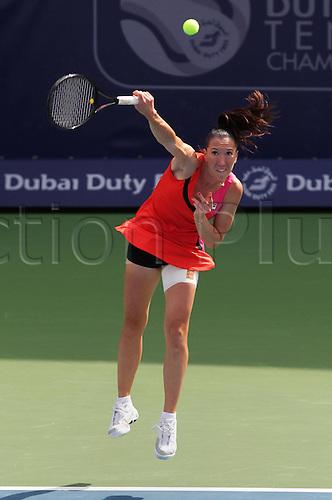 23 02 2012  Dubai United Arab Emirates.  2012 WTA Tennis Tournament International Series Dubai Tennis stadium.   Jelena Jankovic Srb
