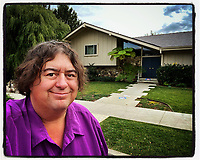 SHERMAN OAKS, CA - DECEMBER 22:  iPhone Instagram of photographer Brad Mangin in front of the Brady Bunch house on December 22, 2019 in Sherman Oaks, California. (Photo by Brad Mangin)