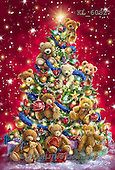 Interlitho, CHRISTMAS ANIMALS, WEIHNACHTEN TIERE, NAVIDAD ANIMALES, paintings+++++,tree, teddy bears,KL6082,#XA# ,Marcello