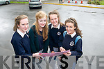 Catherine Mannix, Niamh Ni Leathlobhair, Beatrice Dennesen and Grainne Griffin at Presentation Secondary School, Tralee on Wednesday just after completing English Paper 1.