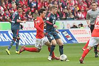 Toni Kroos (Bayern) gegen Ja-Cheol Koo (Mainz)- 1. FSV Mainz 05 vs. FC Bayern München, Coface Arena, 26. Spieltag