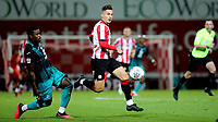Sergi Canos of Brentford in action during Brentford vs Swansea City, Sky Bet EFL Championship Play-Off Semi-Final 2nd Leg Football at Griffin Park on 29th July 2020