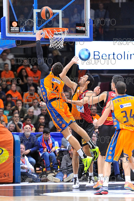 Dubljevic vs Gonlum<br /> Euroleague - 2014/15<br /> Regular season Round 7<br /> Valencia Basket vs Galatasaray