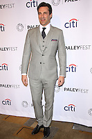 "HOLLYWOOD, LOS ANGELES, CA, USA - MARCH 21: Jon Hamm at the 2014 PaleyFest - ""Mad Men"" held at Dolby Theatre on March 21, 2014 in Hollywood, Los Angeles, California, United States. (Photo by Celebrity Monitor)"
