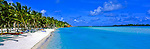 Cook Islands Panorama - Aitutaki in the Cook Islands.<br />