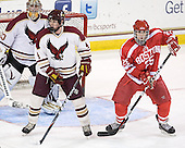 Chris Cobb (BC - 4), Nick Dougherty (BU - 25) - The Boston College Eagles defeated the visiting Boston University Terriers 6-2 in ACHA play on Sunday, December 4, 2011, at Kelley Rink in Conte Forum in Chestnut Hill, Massachusetts.