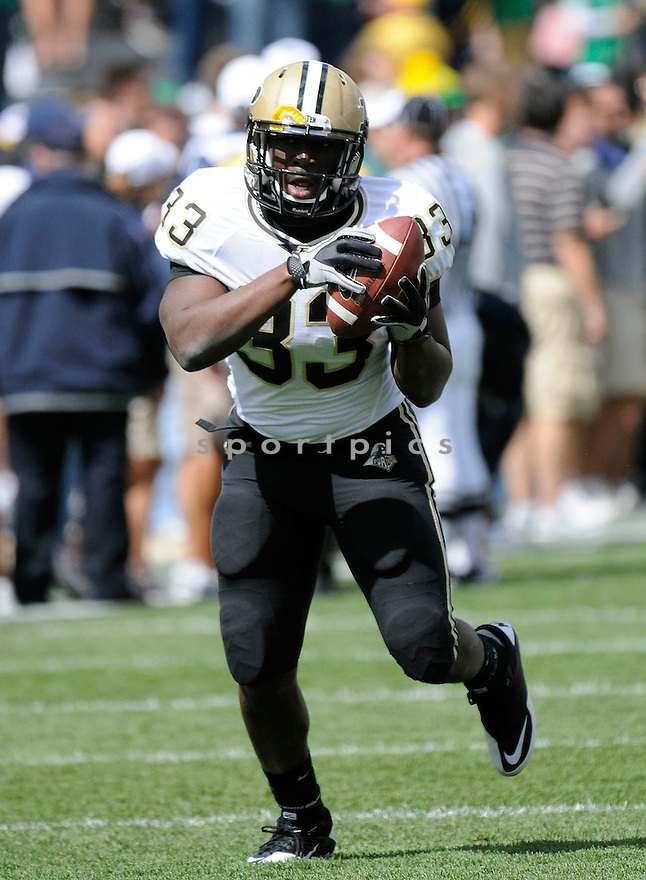 REGGIE PEGRAM, of  Purdue, in action during the Boilermakers game against Notre Dame at Notre Dame Stadium in South Bend, Indiana on September 4, 2010.   Notre Dame won the game 23-12.....