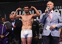 "LAS VEGAS - JUNE 22:  Jorge Cota at Fox Sports ""PBC on Fox Fight Night"" Weigh-In at Mandalay Bay Resort & Casino on June 22, 2019 in Las Vegas, Nevada. (Photo by Frank Micelotta/Fox/PictureGroup)"