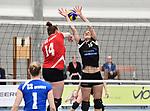 2018-03-10 / Volleybal / Seizoen 2017-2018 / Vrouwen Liga B Noorderkempen - Blaasveld / Kerremans tegenover Kim Van Dun (r. Noorderkempen)<br /> <br /> ,Foto: Mpics.be