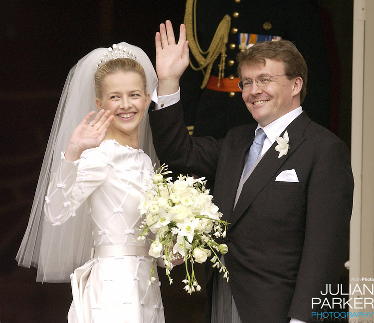 The Wedding of Prince Johan Friso of Holland and Ms Mabel Wisse Smit, at the Noordeinde Palace..Picture: UK Press