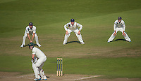 Picture by Allan McKenzie/SWpix.com - 11/09/2014 - Cricket - LV County Championship Div One - Nottinghamshire County Cricket Club v Yorkshire County Cricket Club - Trent Bridge, West Bridgford, England County Cricket Club - Yorkshire's Tim Bresnan, Gary Ballance & Adam Lyth wait for a catch in the slips.