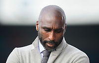 Macclesfield Town manager Sol Campbell<br /> <br /> Photographer Chris Vaughan/CameraSport<br /> <br /> The EFL Sky Bet League Two - Lincoln City v Macclesfield Town - Saturday 30th March 2019 - Sincil Bank - Lincoln<br /> <br /> World Copyright © 2019 CameraSport. All rights reserved. 43 Linden Ave. Countesthorpe. Leicester. England. LE8 5PG - Tel: +44 (0) 116 277 4147 - admin@camerasport.com - www.camerasport.com