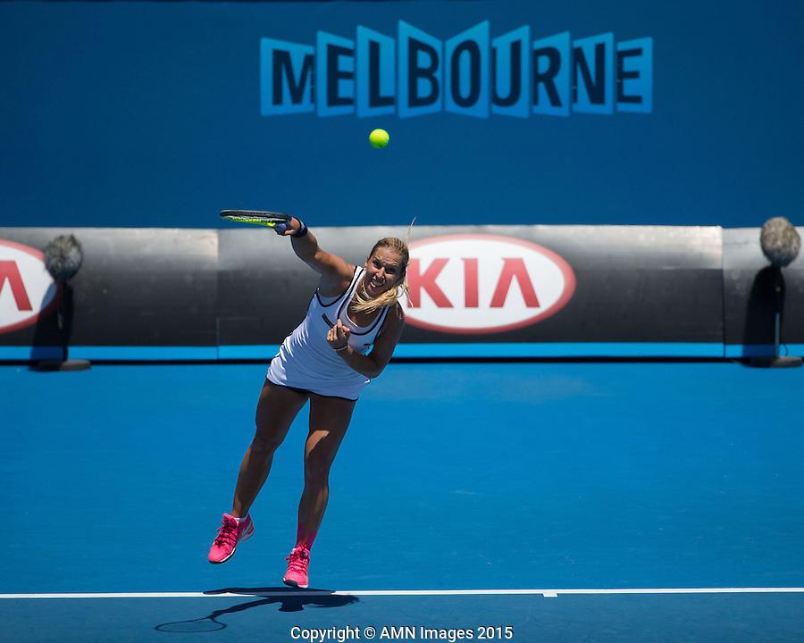 Dominika Cibulkova (SVK)<br /> <br /> Tennis - Australian Open 2015 - Grand Slam -  Melbourne Park - Melbourne - Victoria - Australia  - 24 January 2015. <br /> &copy; AMN IMAGES